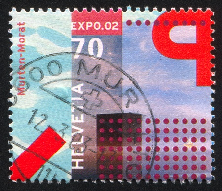 SWITZERLAND - CIRCA 2002: stamp printed by Switzerland, shows Building, circa 2002 Stock Photo - 17837817