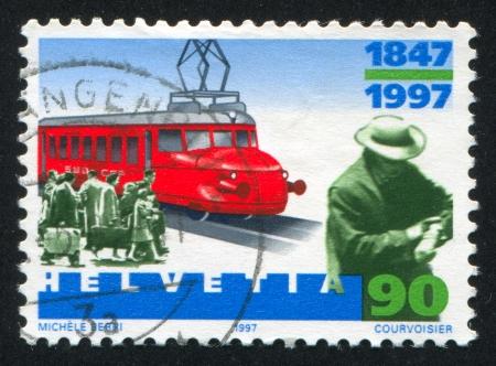 schokabsorber: SWITZERLAND - CIRCA 2000: stamp printed by Switzerland, shows Red Arrow, circa 2000