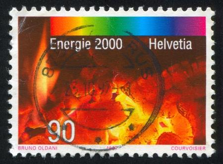 SWITZERLAND - CIRCA 1997: stamp printed by Switzerland, shows Fire, circa 1997 Sajtókép