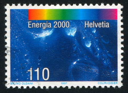 hydrology: SWITZERLAND - CIRCA 1997: stamp printed by Switzerland, shows Water, circa 1997 Editorial
