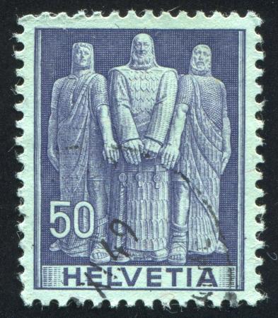 SWITZERLAND - CIRCA 1941: stamp printed by Switzerland, shows