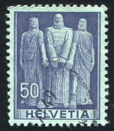 SWITZERLAND - CIRCA 1941: stamp printed by Switzerland, shows