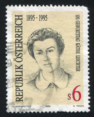 AUSTRIA - CIRCA 1995: stamp printed by Austria, shows Kathe Leichter, circa 1995 Stock Photo - 18113016