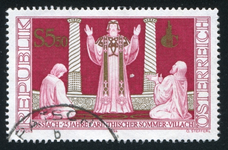 vestment: AUSTRIA - CIRCA 1994: stamp printed by Austria, shows Scene from The Prodigal Son, circa 1994