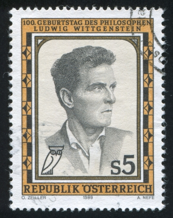 AUSTRIA - CIRCA 1989: stamp printed by Austria, shows Ludwig Wittgenstein, circa 1989