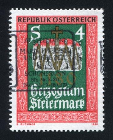 AUSTRIA - CIRCA 1980: stamp printed by Austria, shows Duke's hat, circa 1980 Stock Photo - 18113206