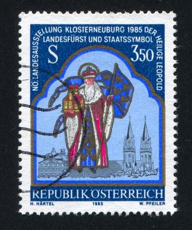 leopold: AUSTRIA - CIRCA 1985: stamp printed by Austria, shows St. Leopold, circa 1985