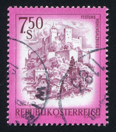 loophole: AUSTRIA - CIRCA 1977: stamp printed by Austria, shows Hohensalzburg, circa 1977