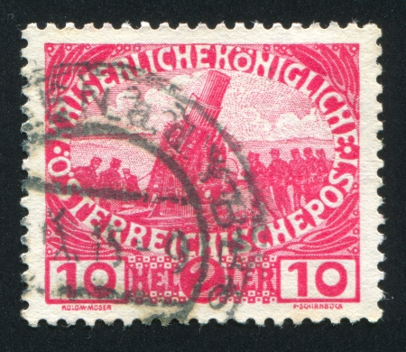 AUSTRIA - CIRCA 1915: stamp printed by Austria, shows Siege gun, circa 1915 Editöryel