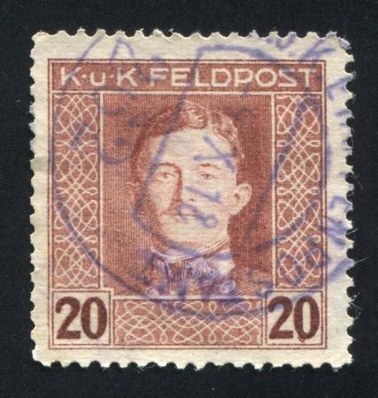 AUSTRIA - CIRCA 1917: stamp printed by Austria, shows Emperor Karl I, circa 1917 Stock Photo - 18113201