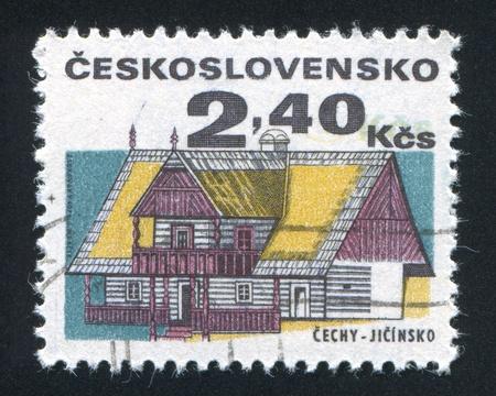 czechoslovakia: CZECHOSLOVAKIA - CIRCA 1971: stamp printed by Czechoslovakia, shows House, Jicin, circa 1971