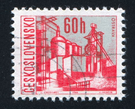 CZECHOSLOVAKIA - CIRCA 1966: stamp printed by Czechoslovakia, shows Ostrava, circa 1966