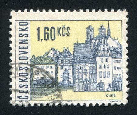 czechoslovakia: CZECHOSLOVAKIA - CIRCA 1965: stamp printed by Czechoslovakia, shows Cheb, circa 1965