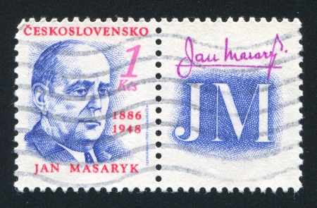 CZECHOSLOVAKIA - CIRCA 1991: stamp printed by Czechoslovakia, shows Jan Masaryk, diplomat, circa 1991 Stock Photo - 18113267