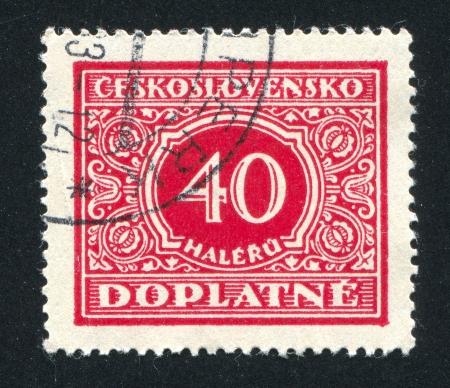 czechoslovakia: CZECHOSLOVAKIA - CIRCA 1928: stamp printed by Czechoslovakia, shows Postage Due, circa 1928