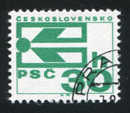 czechoslovakia: CZECHOSLOVAKIA - CIRCA 1974: stamp printed by Czechoslovakia, shows Postal Code Symbol, circa 1974