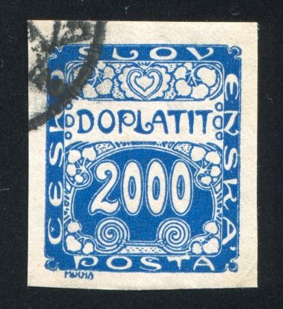 imposition: CZECHOSLOVAKIA - CIRCA 1918: stamp printed by Czechoslovakia, shows Postage Due, circa 1918