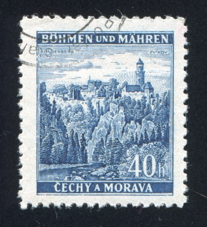 CZECHOSLOVAKIA - CIRCA 1936: stamp printed by Czechoslovakia, shows Castle at Zvikov, circa 1936