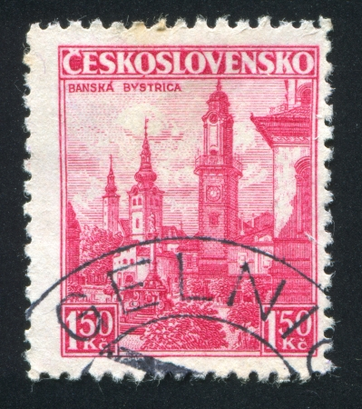 czechoslovakia: CZECHOSLOVAKIA - CIRCA 1936: stamp printed by Czechoslovakia, shows Town of Banska Bystrica, circa 1936