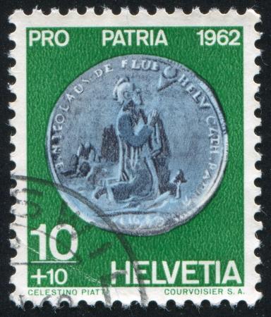thaler: SWITZERLAND - CIRCA 1962: stamp printed by Switzerland, shows Half-Thaler, Obwalden, circa 1962