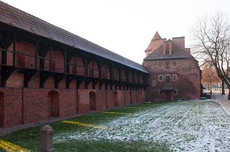 teutonic: Il Castello dell'Ordine Teutonico a Malbork, Polonia.