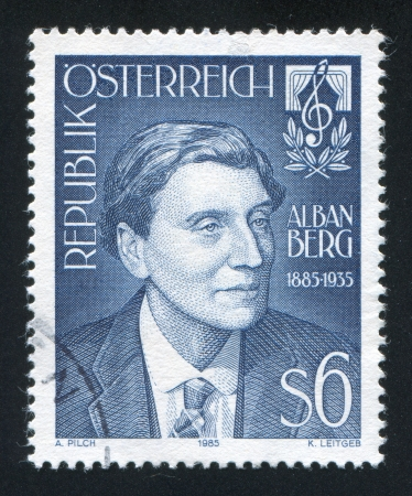 AUSTRIA - CIRCA 1985: stamp printed by Austria, shows Alban Berg, circa 1985 Stock Photo - 18329698