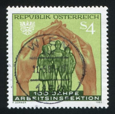 steelmaker: AUSTRIA - CIRCA 1983: stamp printed by Austria, shows Work inspection, circa 1983