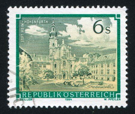 rein: AUSTRIA - CIRCA 1984: stamp printed by Austria, shows Rein Hohenfurth, circa 1984 Editorial