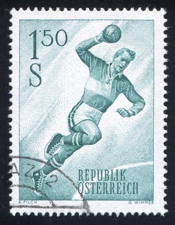 uppers: AUSTRIA - CIRCA 1959: stamp printed by Austria, shows Handball, circa 1959