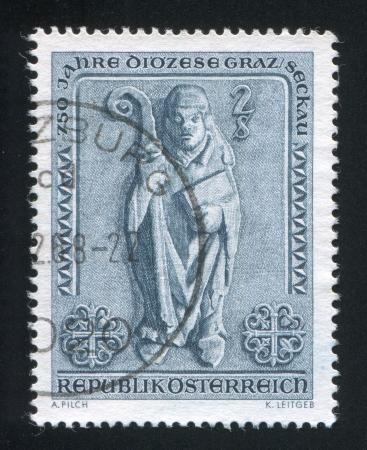 AUSTRIA - CIRCA 1968: stamp printed by Austria, shows Bishop in Graz Seckau Bishopric, circa 1968