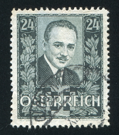 AUSTRIA - CIRCA 1934: stamp printed by Austria, shows Engelbert Dollfuss, circa 1934 Stock Photo - 18329747