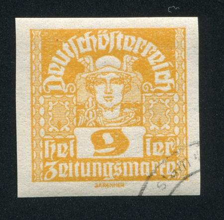 AUSTRIA - CIRCA 1919: stamp printed by Austria, shows Mercury, circa 1919 Stock Photo - 18329586