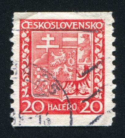 czechoslovakia: CZECHOSLOVAKIA - CIRCA 1928: stamp printed by Czechoslovakia, shows Coat of Arms, circa 1928