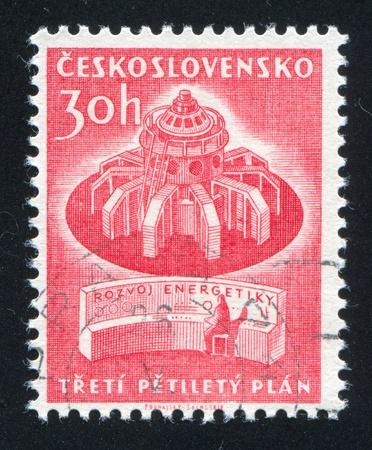 czechoslovakia: CZECHOSLOVAKIA - CIRCA 1961: stamp printed by Czechoslovakia, shows Turbo generator, circa 1961