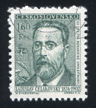 CZECHOSLOVAKIA - CIRCA 1962: stamp printed by Czechoslovakia, shows Ladislav Celakovsky, circa 1962