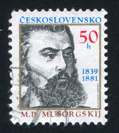 petrovich: CZECHOSLOVAKIA - CIRCA 1989: stamp printed by Czechoslovakia, shows Modest Petrovich Musorgsky, circa 1989