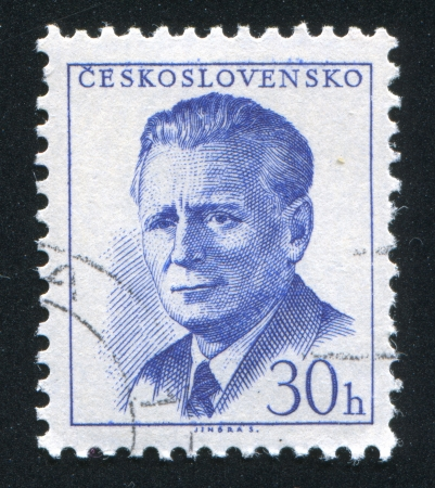 CZECHOSLOVAKIA - CIRCA 1958: stamp printed by Czechoslovakia, shows Novotny, circa 1958 Stock Photo - 18329607
