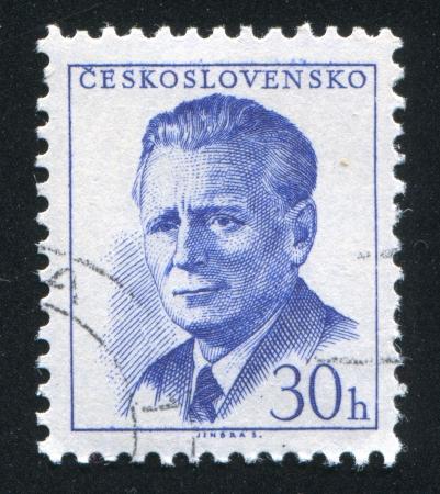 CZECHOSLOVAKIA - CIRCA 1958: stamp printed by Czechoslovakia, shows Novotny, circa 1958 Stock Photo - 18329607