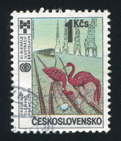 clement: CZECHOSLOVAKIA - CIRCA 1987: stamp printed by Czechoslovakia, shows Frederic Clement, France, circa 1987
