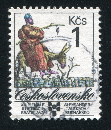 CZECHOSLOVAKIA - CIRCA 1989: stamp printed by Czechoslovakia, shows Aleksander Aleksov, Bulgaria, circa 1989