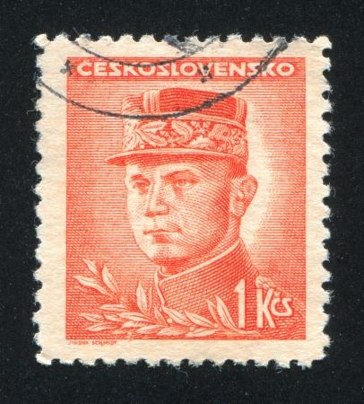stefanik: CZECHOSLOVAKIA - CIRCA 1945: stamp printed by Czechoslovakia, shows Stefanik, circa 1945 Editorial