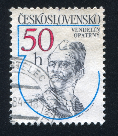 CZECHOSLOVAKIA - CIRCA 1984: stamp printed by Czechoslovakia, shows Vendelin Opatrny, circa 1984 Stock Photo - 18777816