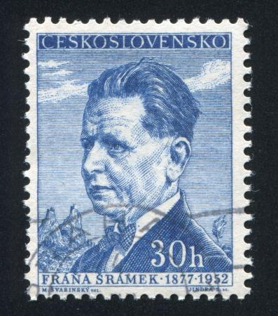 CZECHOSLOVAKIA - CIRCA 1956: stamp printed by Czechoslovakia, shows Frana Sramek, circa 1956 Stock Photo - 18777919
