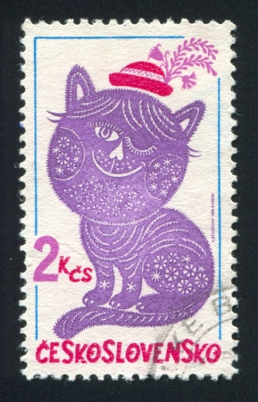 dandy: CZECHOSLOVAKIA - CIRCA 1980: stamp printed by Czechoslovakia, shows Dandy and Posy, circa 1980