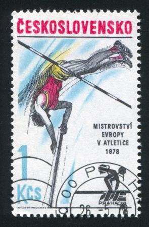 diskus: CZECHOSLOVAKIA - CIRCA 1978: stamp printed by Czechoslovakia, shows Joseph Navratil, circa 1978