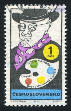 henri: CZECHOSLOVAKIA - CIRCA 1969: stamp printed by Czechoslovakia, shows Henri Matisse, circa 1969