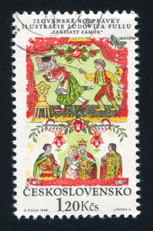 CZECHOSLOVAKIA - CIRCA 1968: stamp printed by Czechoslovakia, shows The Spellbound Castle picture, circa 1968