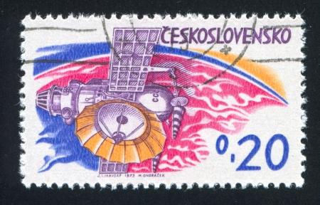 "planetarnych: CZECHOSLOVAKIA - CIRCA 1973: stamp printed by Czechoslovakia, shows Soviet planetary station ""Venera"", circa 1973"