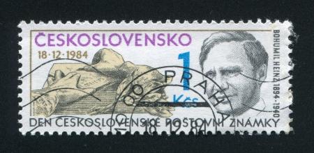 engraver: Cecoslovacchia - CIRCA 1984: timbro stampato dalla Cecoslovacchia, mostra Incisore Bohumil Heinz, circa 1984