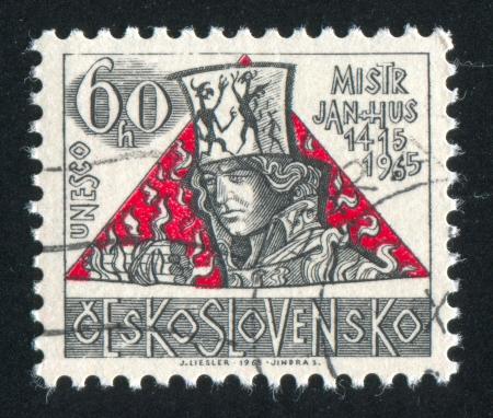 predecessor: CZECHOSLOVAKIA - CIRCA 1965: stamp printed by Czechoslovakia, shows Jan Hus, circa 1965